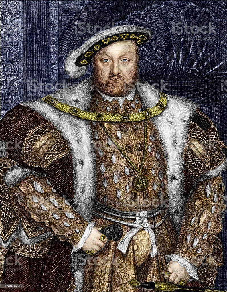 King Henry VIII vector art illustration