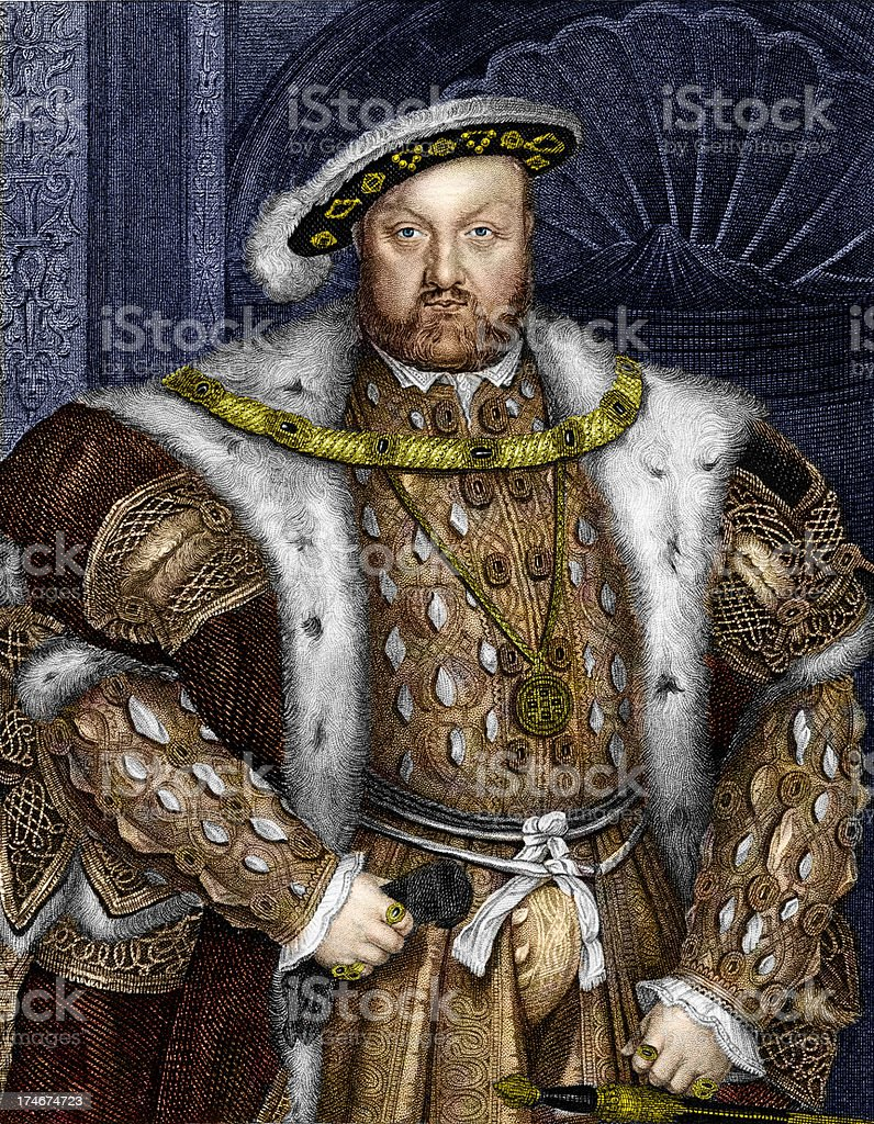 King Henry VIII vector art illustration