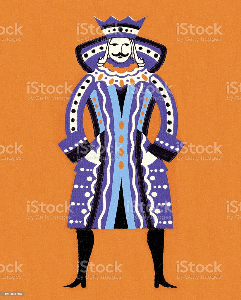 King in Purple Garb royalty-free stock vector art
