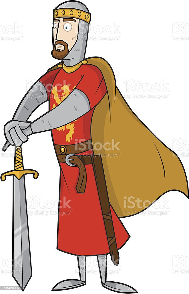 King of England vector art illustration