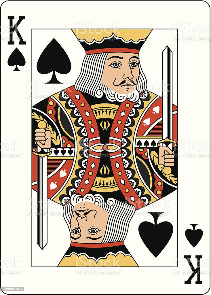 King Of Spades Two playing card vector art illustration