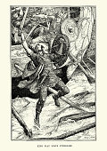 King Olaf Tryggvason at the Battle of Svolder