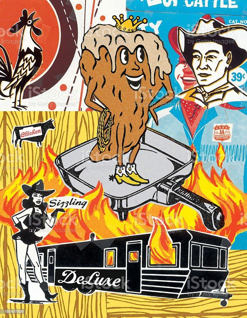 King Poop Mash-up vector art illustration