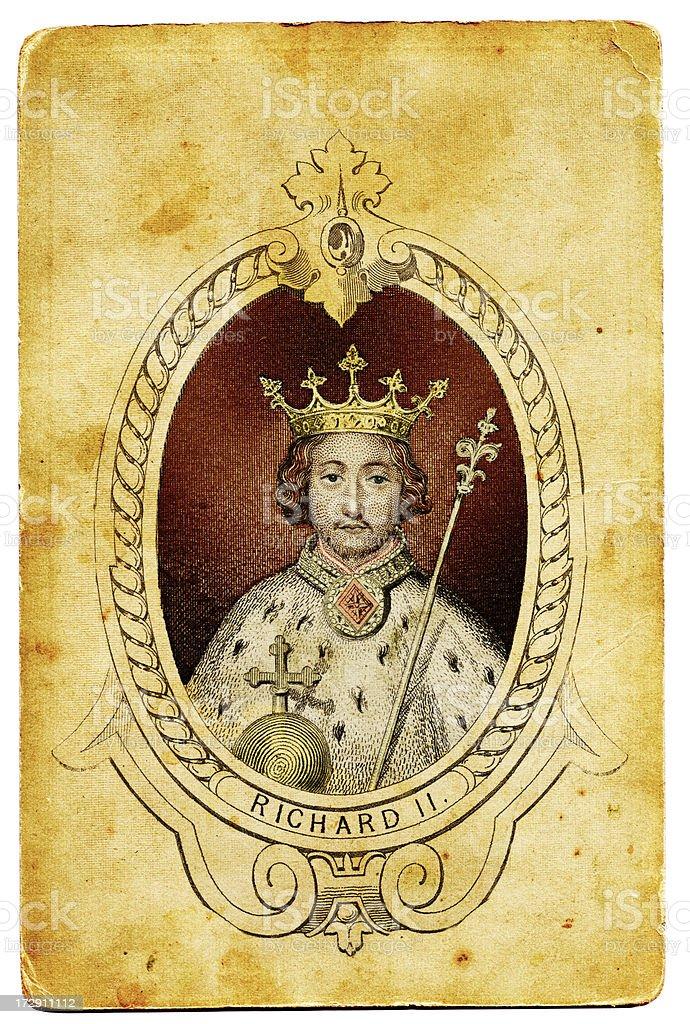 King Richard II of England vector art illustration