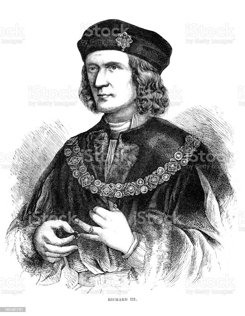 King Richard III last of the Plantagenets royalty-free stock vector art