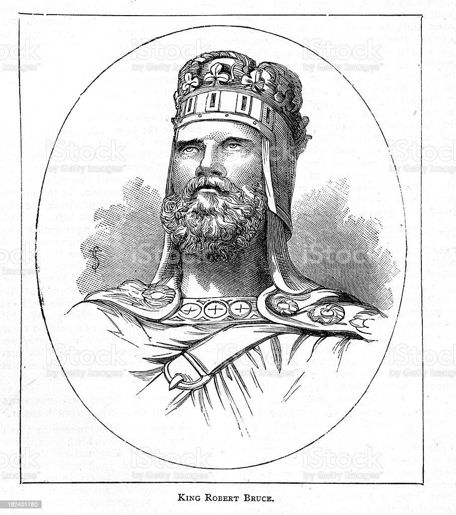 King Robert Bruce of Scotland royalty-free stock vector art