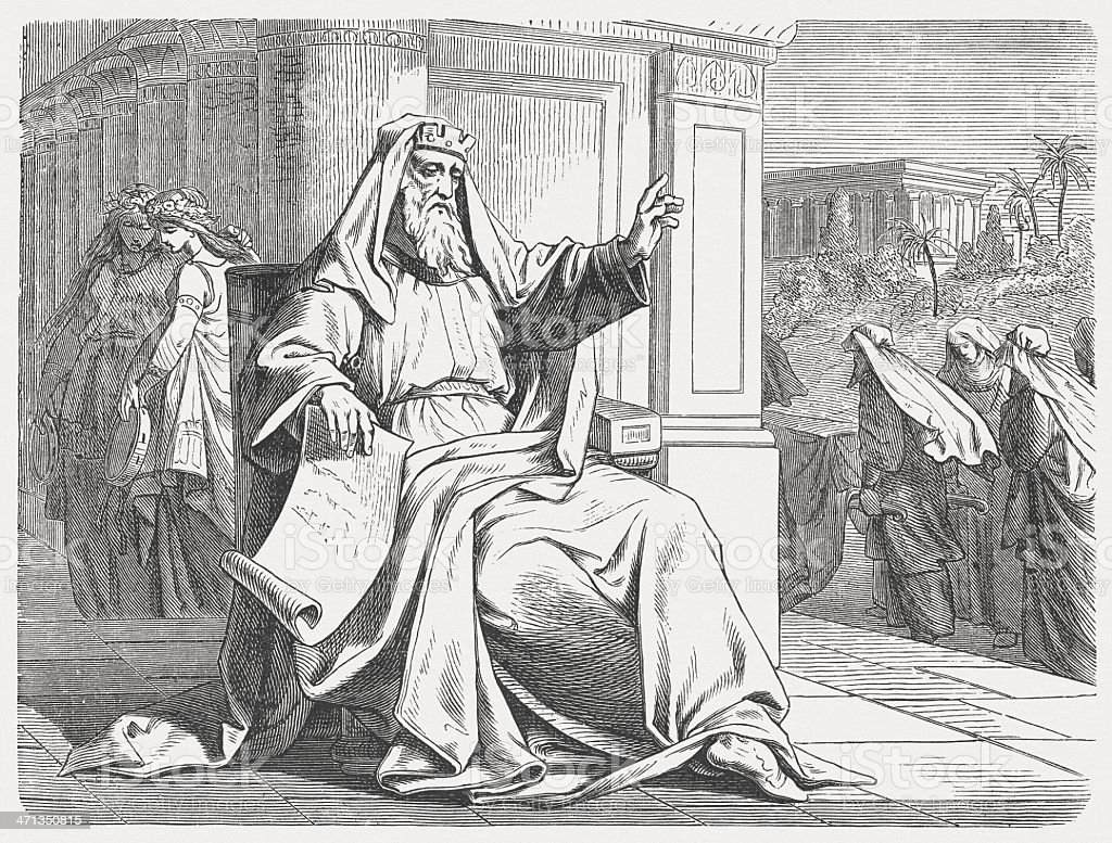 King Solomon: 'All is vanity!' (Ecclesiastes 2), published in 1877 vector art illustration