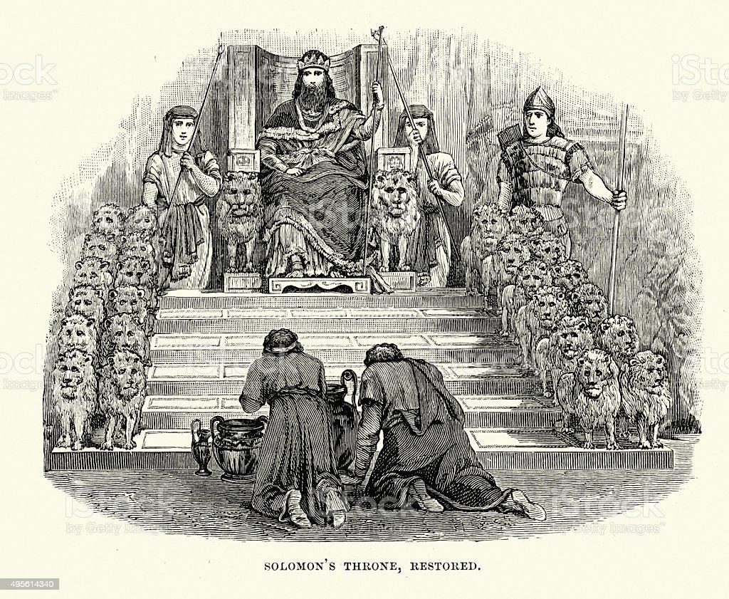 King Solomon's Throne vector art illustration