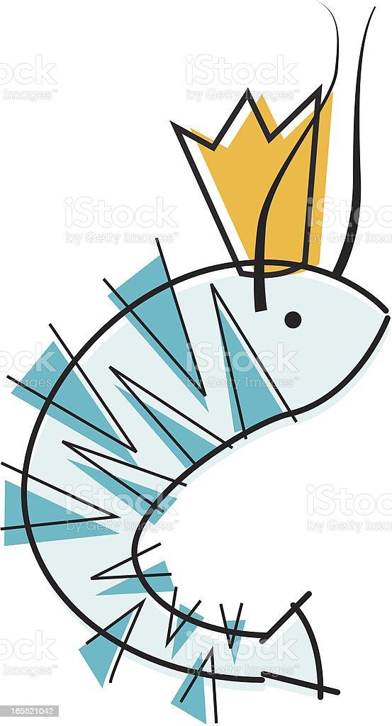 King Tiger Shrimmp royalty-free stock vector art