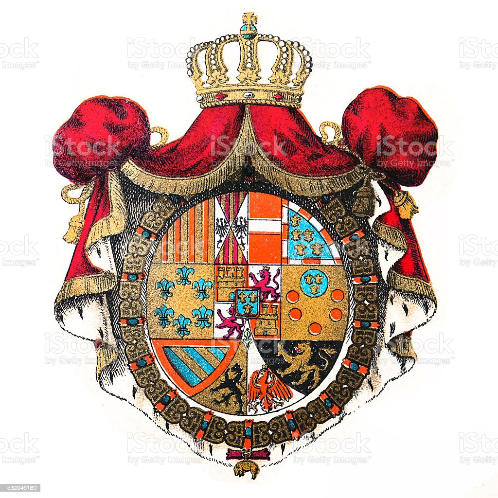 Kingdom of Spain emblem vector art illustration