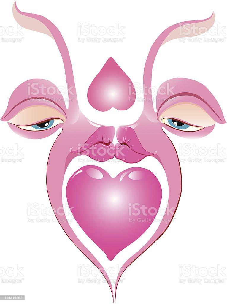 Kiss vector art illustration