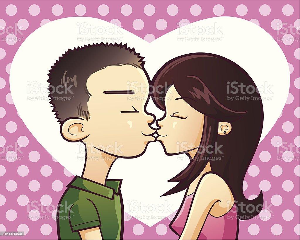 Kissing royalty-free stock vector art