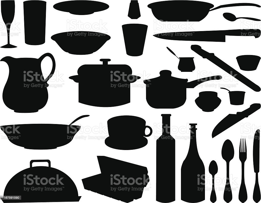 kitchen elements royalty-free stock vector art