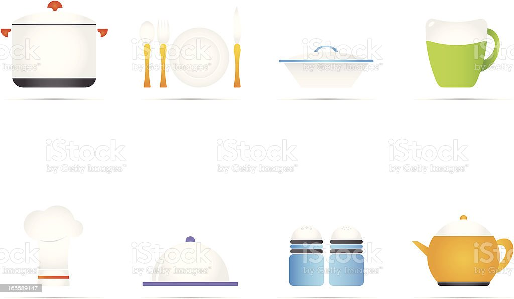Kitchen Icon Set royalty-free stock vector art