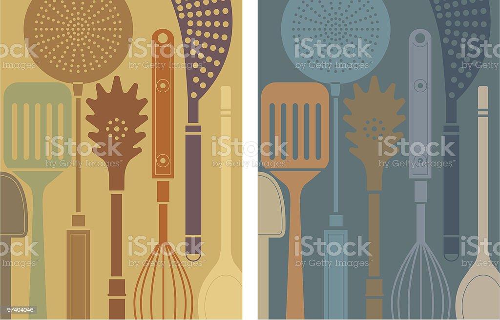 Kitchen tools. royalty-free stock vector art