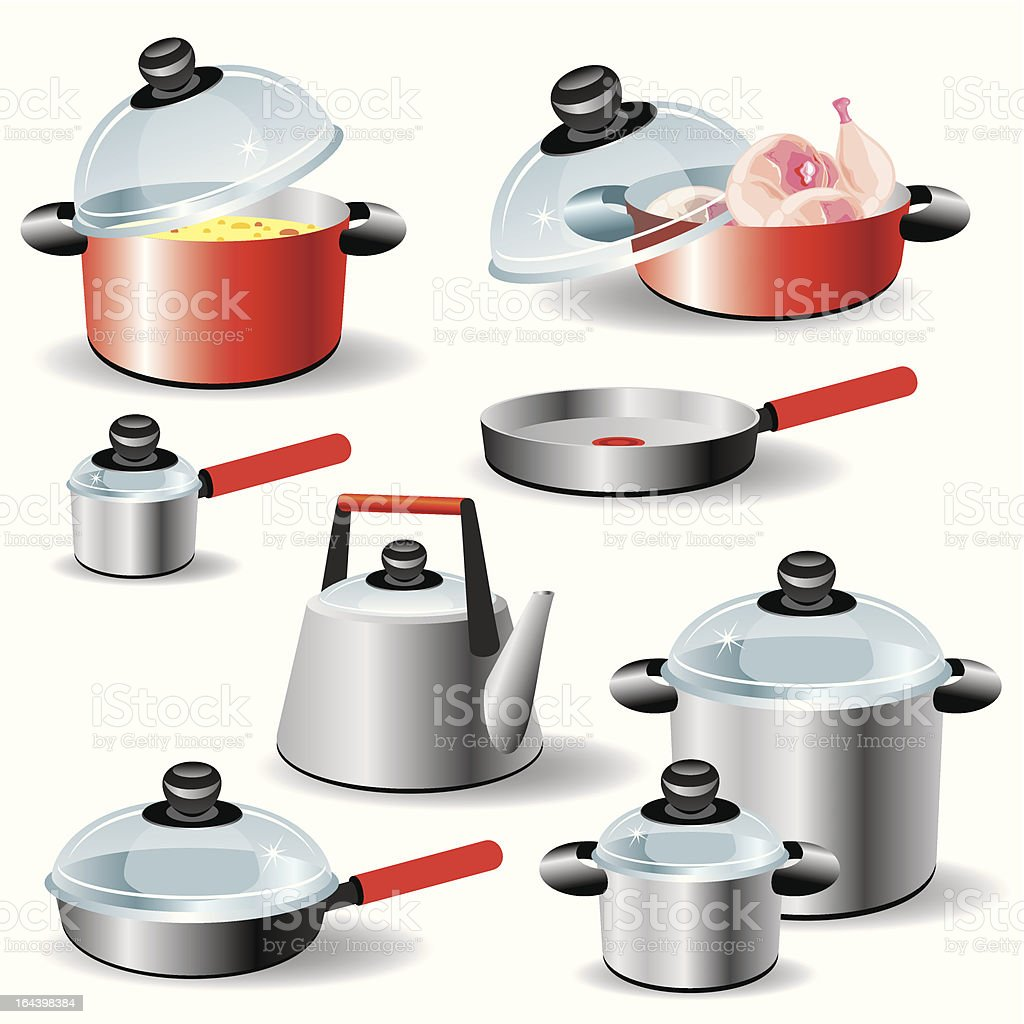 kitchen ware vector art illustration