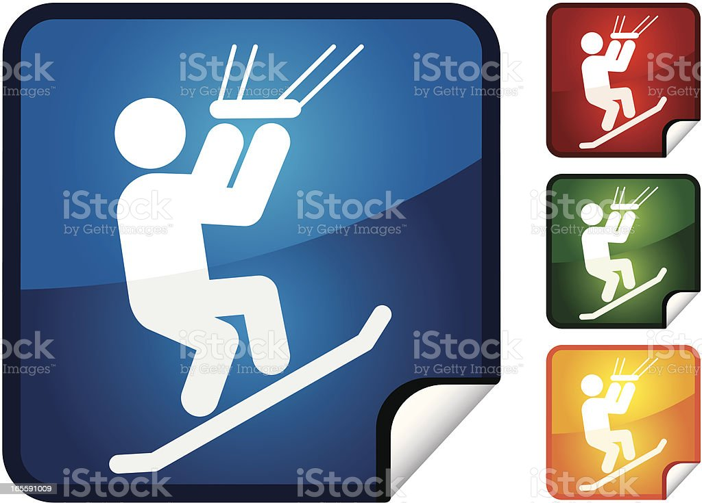Kite Boarding | Sticker Collection royalty-free stock vector art
