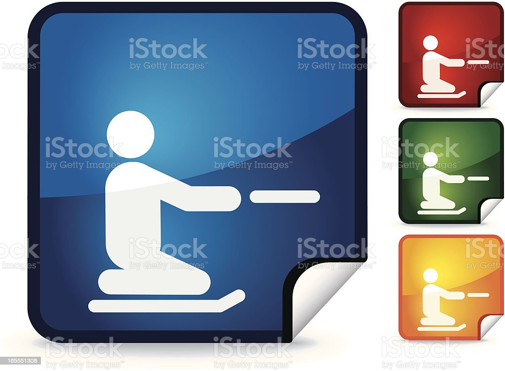 Knee Boarding | Sticker Collection royalty-free stock vector art