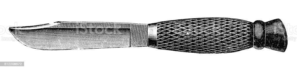 knife vector art illustration