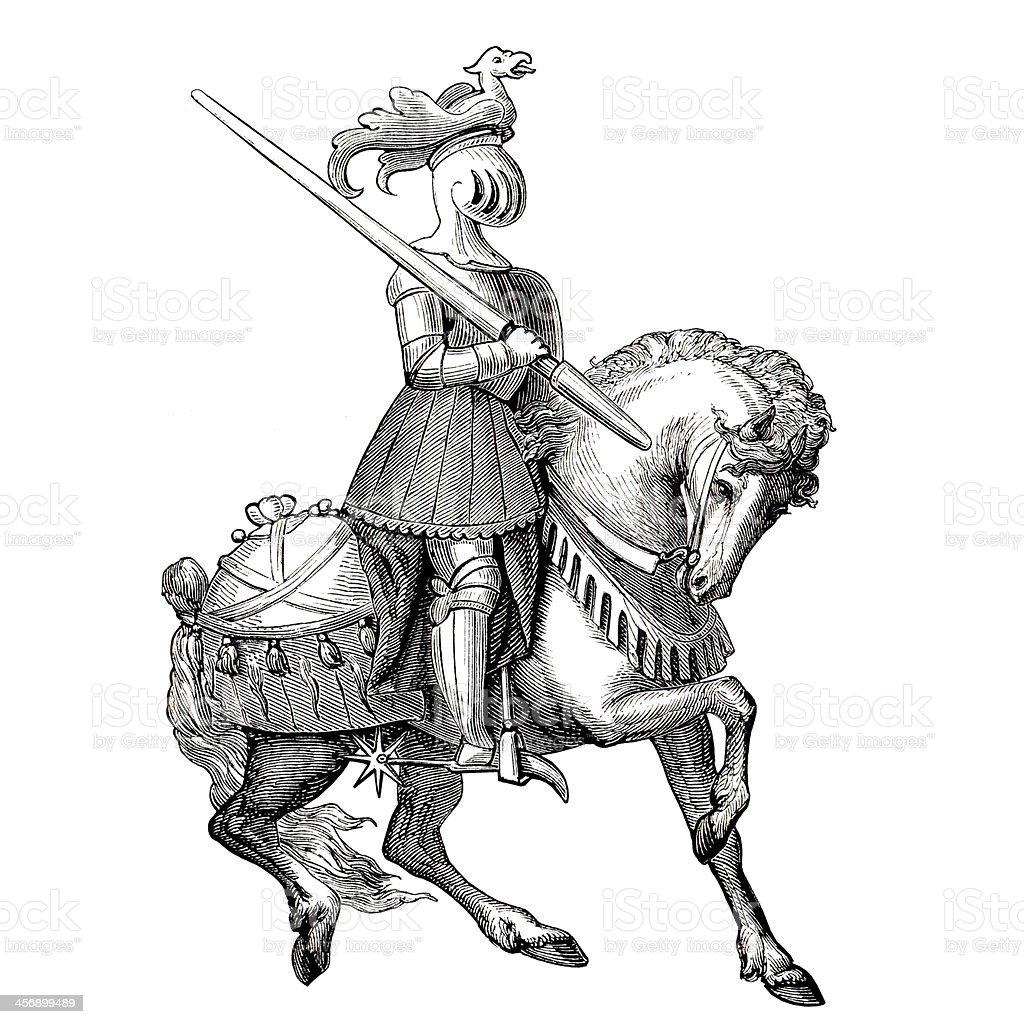 Knight rider vector art illustration