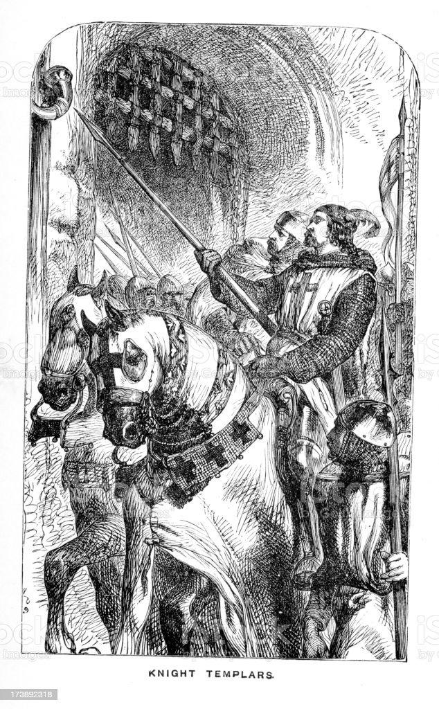 Knight Templars royalty-free stock vector art