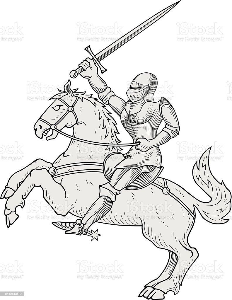 Knight vector royalty-free stock vector art
