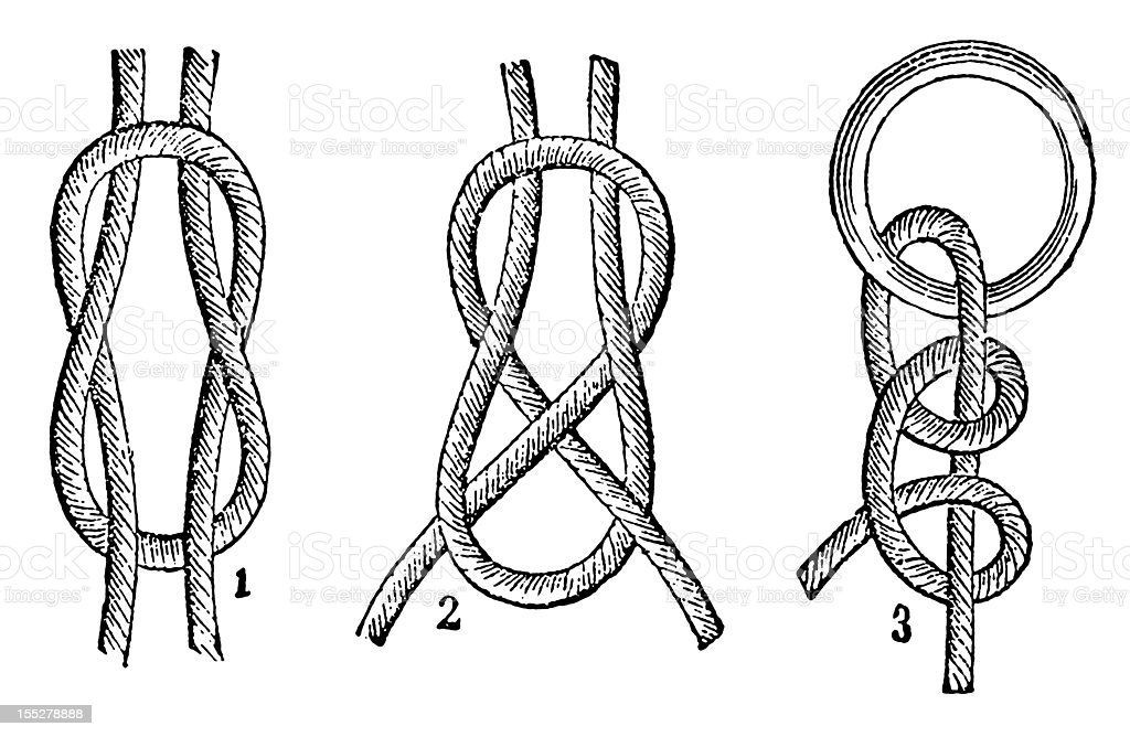 Knots vector art illustration