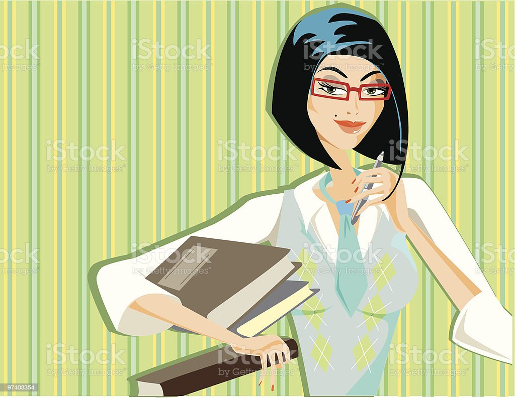 Knowledge will bring you very far royalty-free stock vector art