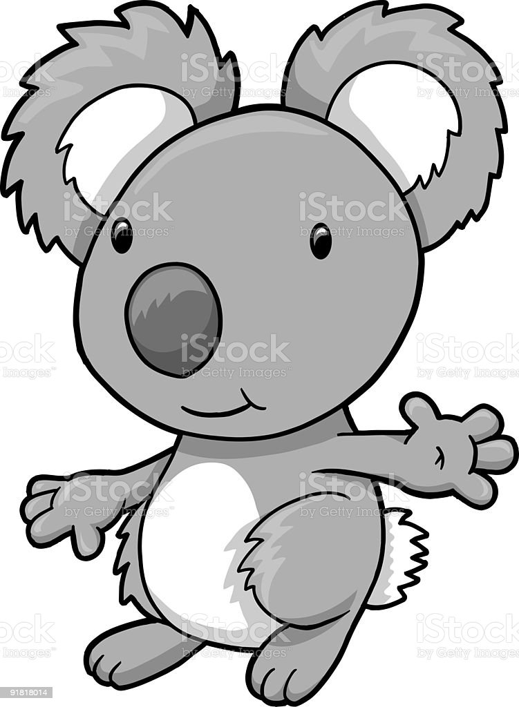 Koala Bear Vector royalty-free stock vector art