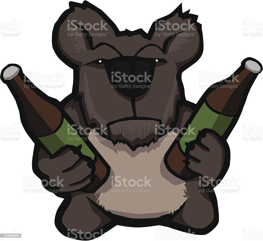 Koala + Beer royalty-free stock vector art