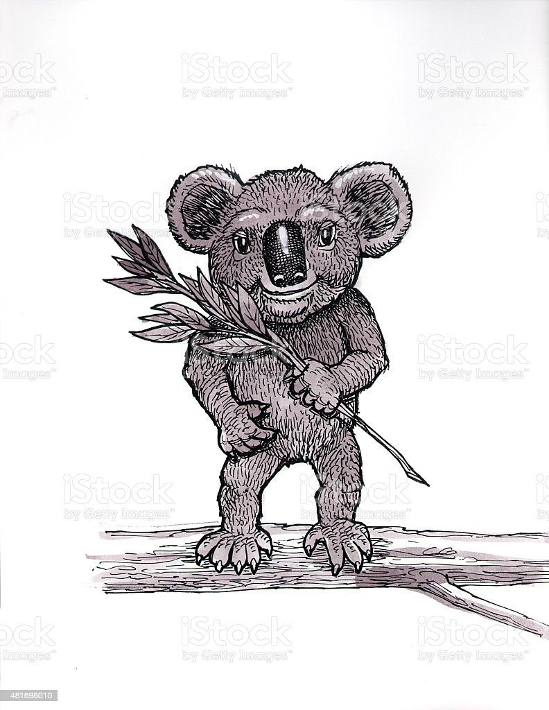 Koala (Comic Lizenzfreies vektor illustration