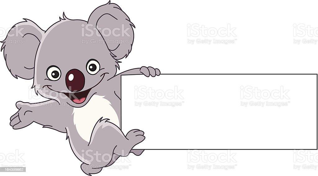 Koala with sign royalty-free stock vector art