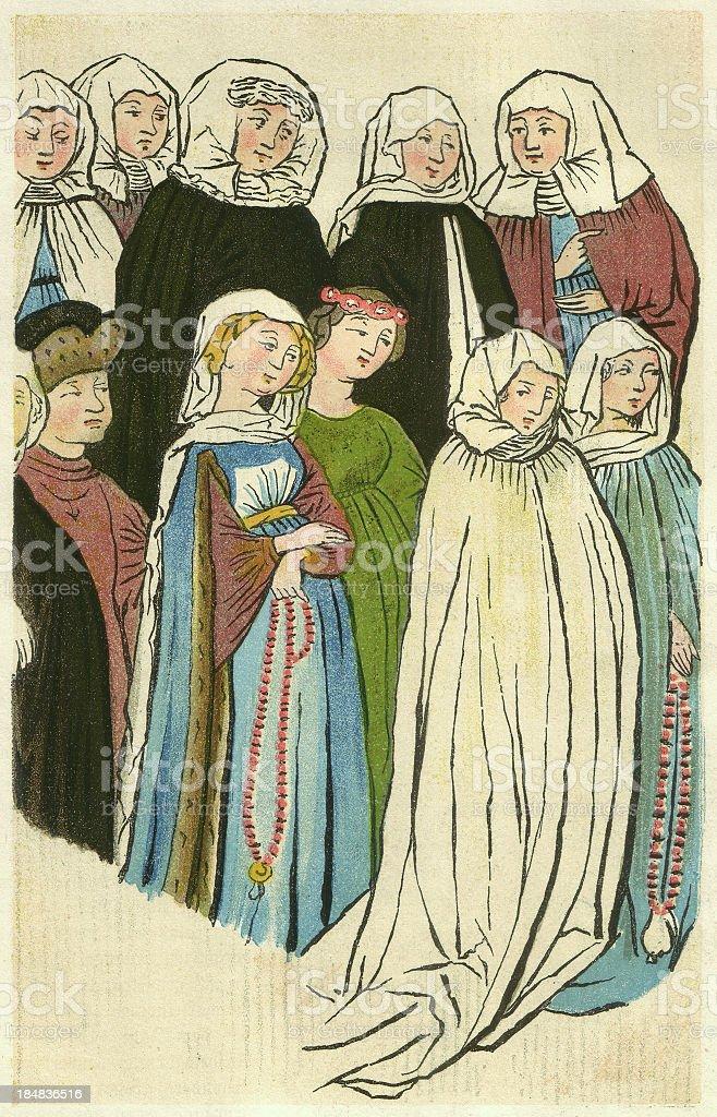 Konstanz women royalty-free stock vector art