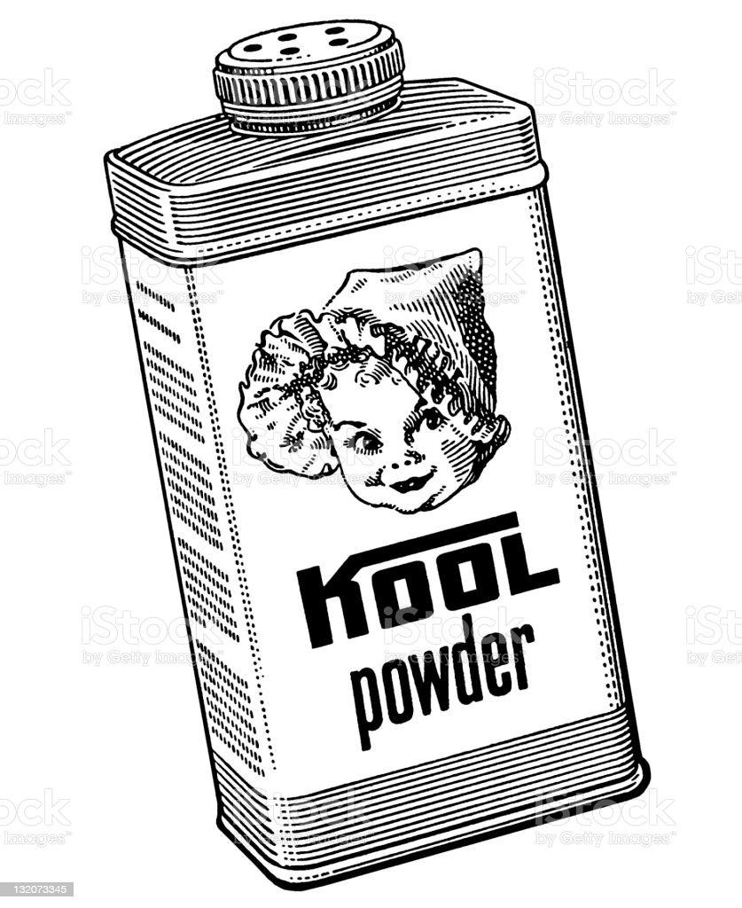 Kool baby Powder royalty-free stock vector art