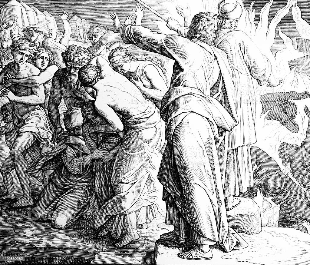 Korah's Rebellion vector art illustration