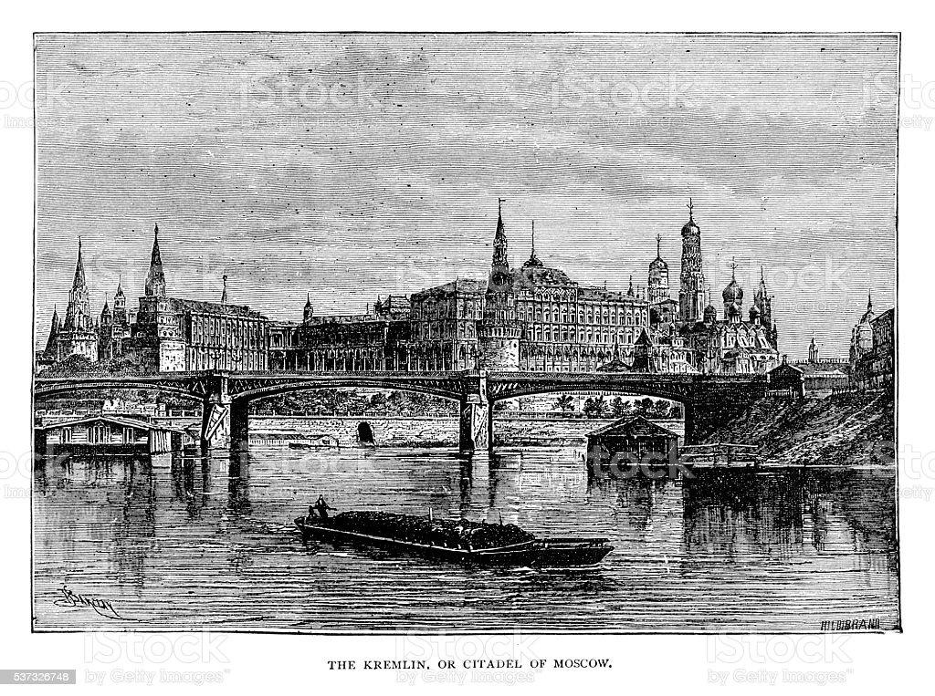Kremlin Moscow vector art illustration
