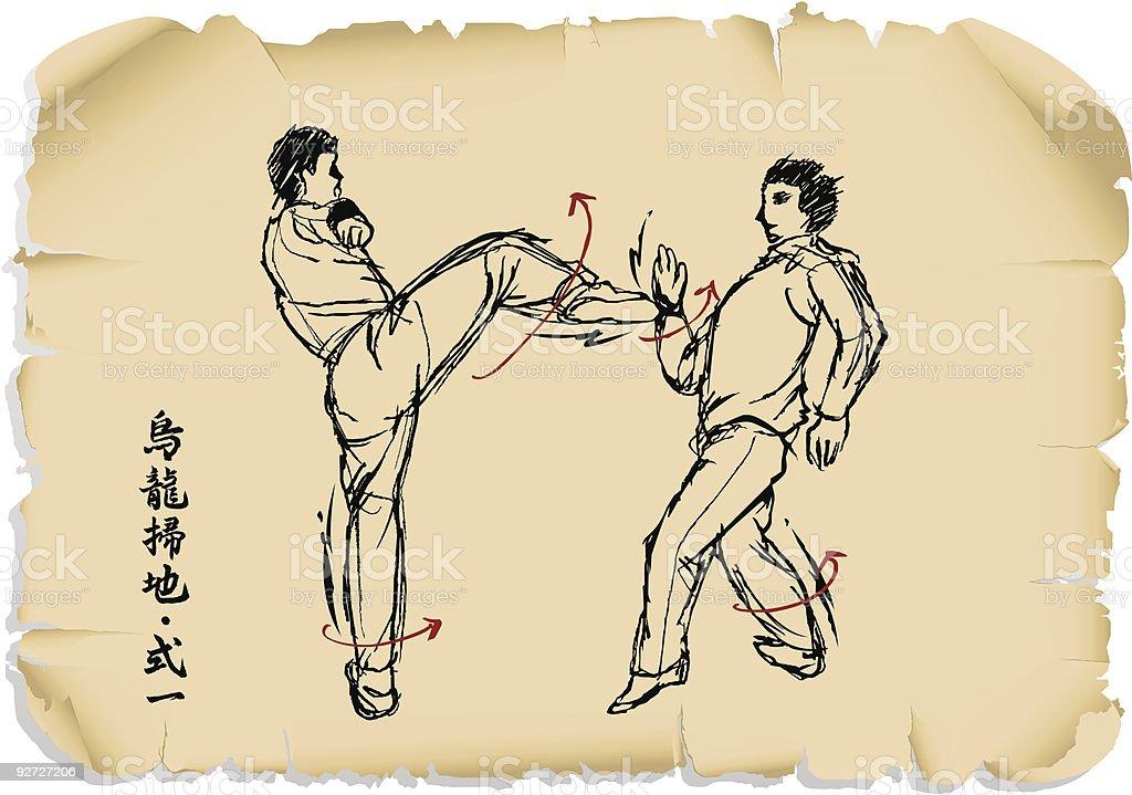 kung_fu_series_2 vector art illustration
