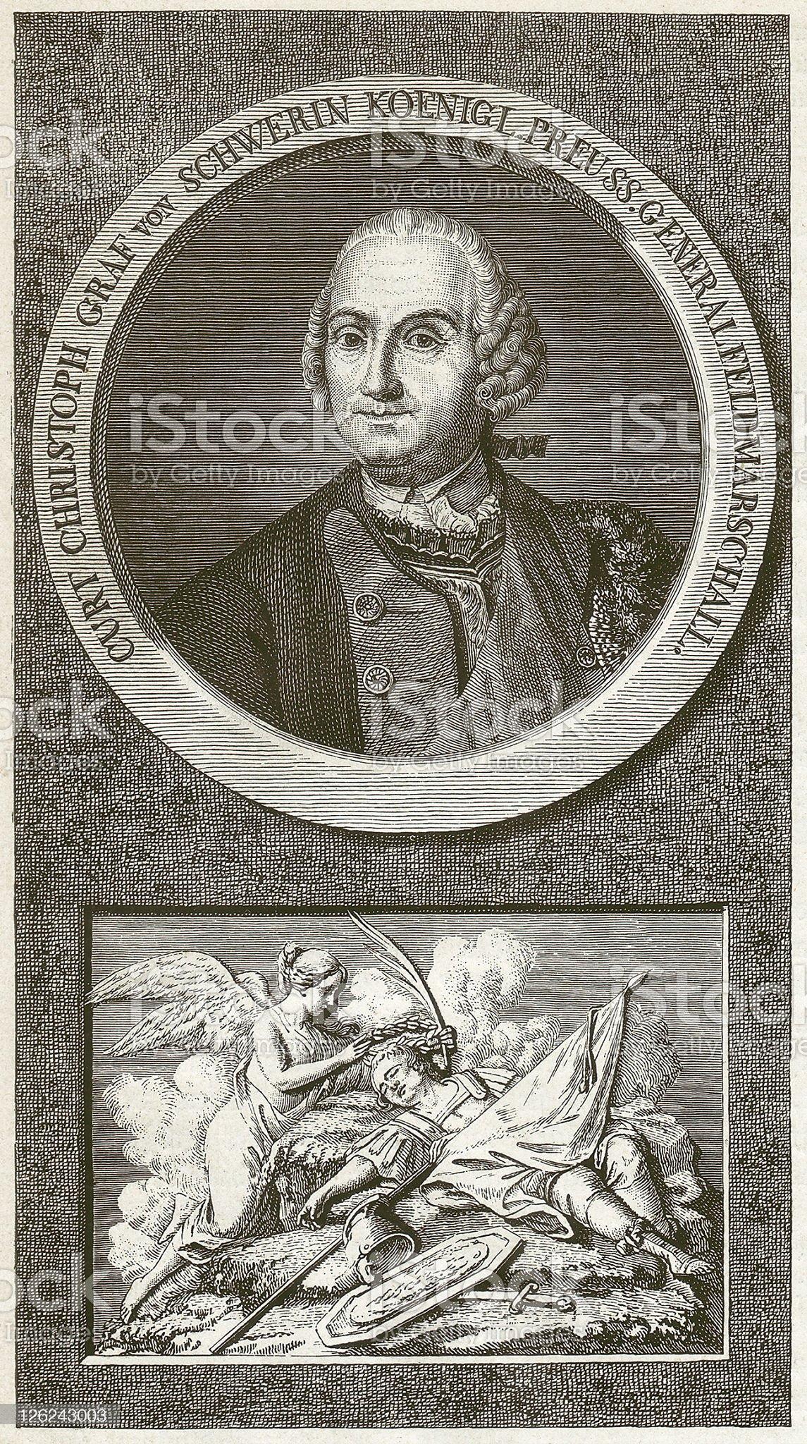 Kurt Christoph von Schwerin royalty-free stock vector art