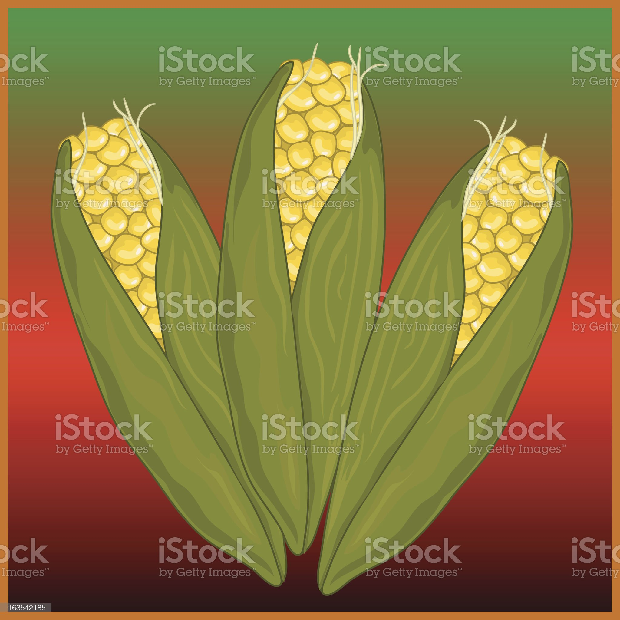 Kwanza Corn royalty-free stock vector art
