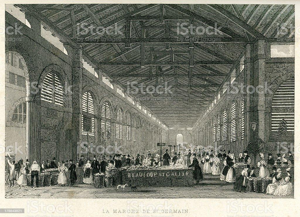 La Marche de St Germain royalty-free stock vector art