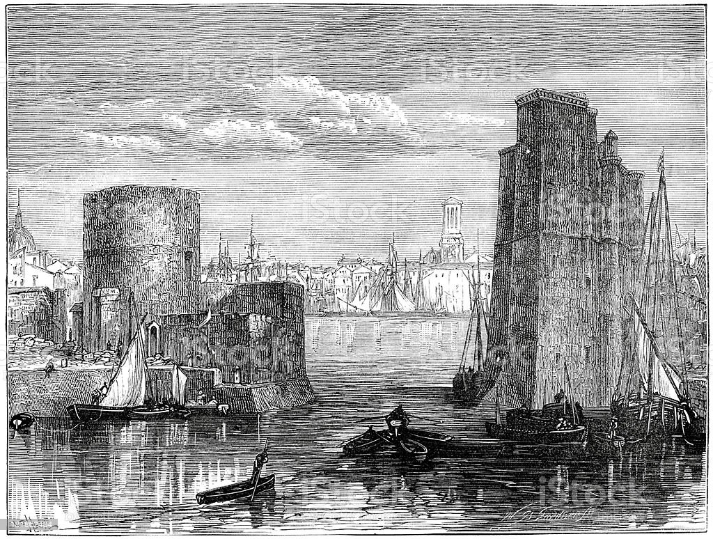 La Rochelle royalty-free stock vector art
