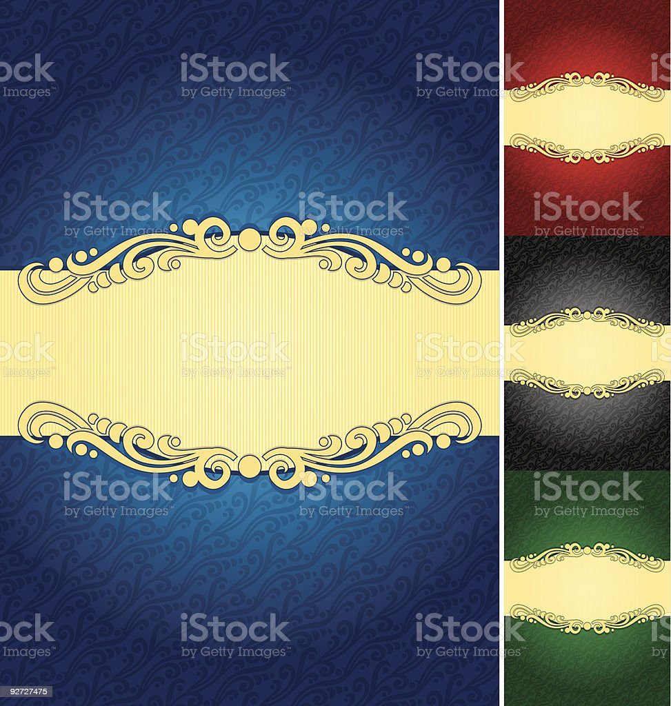 Label Background royalty-free stock vector art