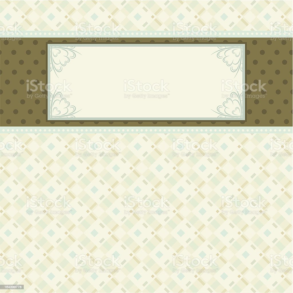 label on beige checked background royalty-free stock vector art