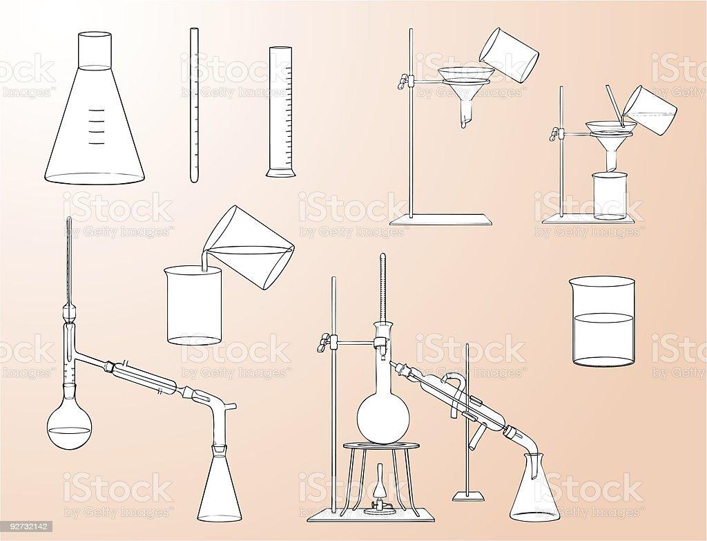 Laboratory equipment royalty-free stock vector art