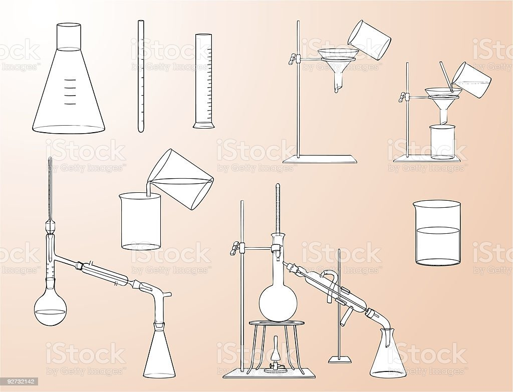 Laboratory equipment vector art illustration