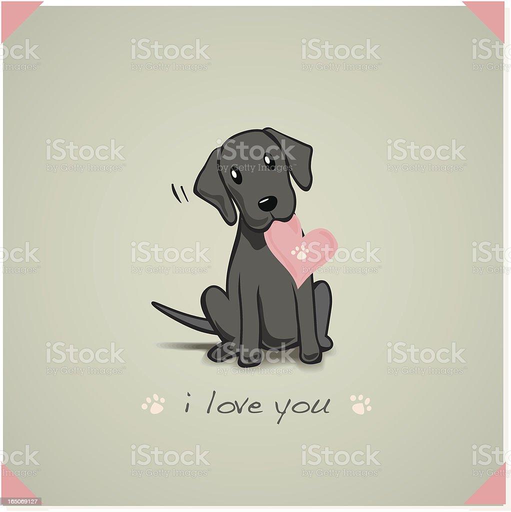 Labrador Puppy vector art illustration