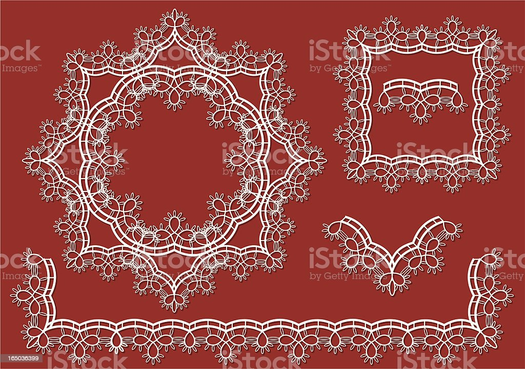 Lace border royalty-free stock vector art