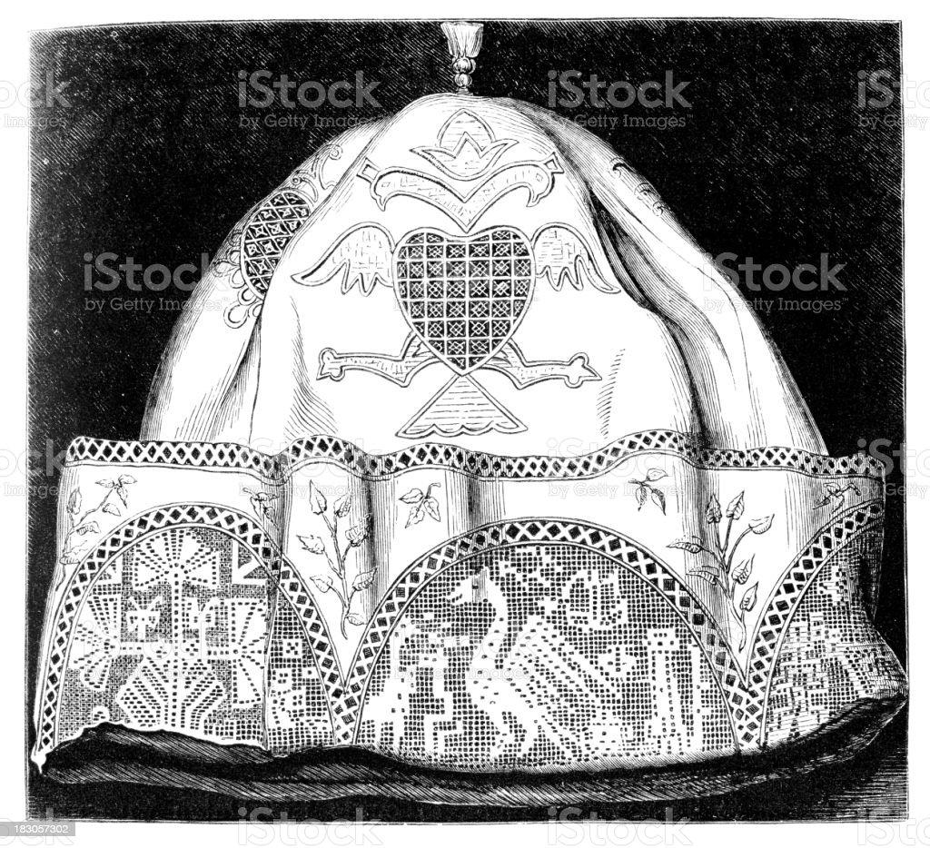 lace cap vector art illustration