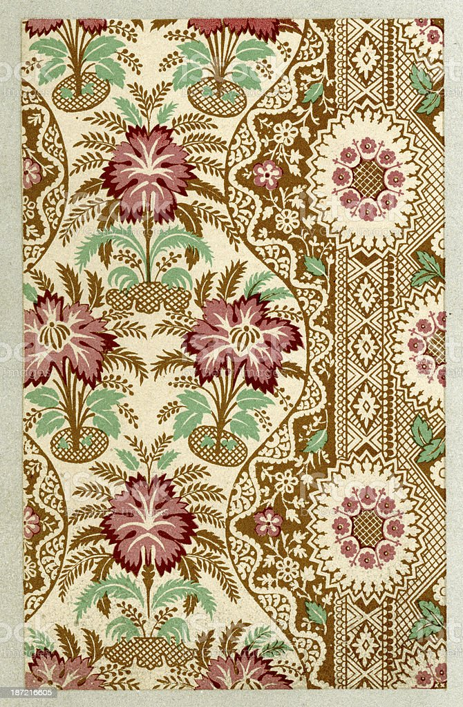 Lace Pattern - 17th Century royalty-free stock vector art