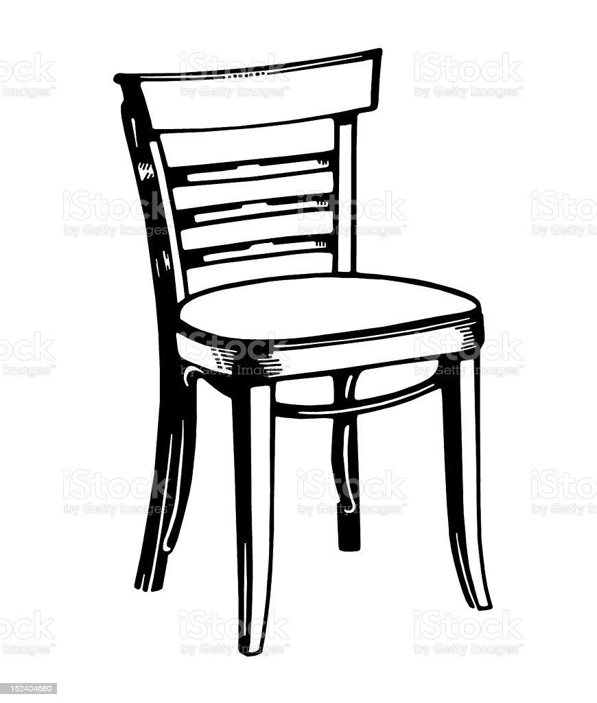 Ladderback Chair royalty-free stock vector art